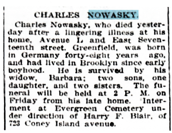 Charles Nowaky Jr.'s Obituary