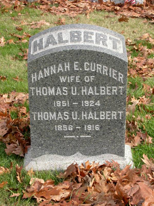 The Greenwood Cemetery Grave of Thomas and Hannah Halbert