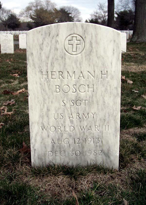 Headstone of Herman Bosch at Long Island National Cemetery