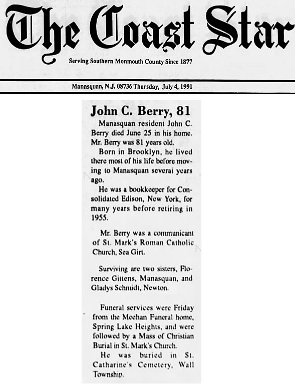 John C. Berry's Obituary