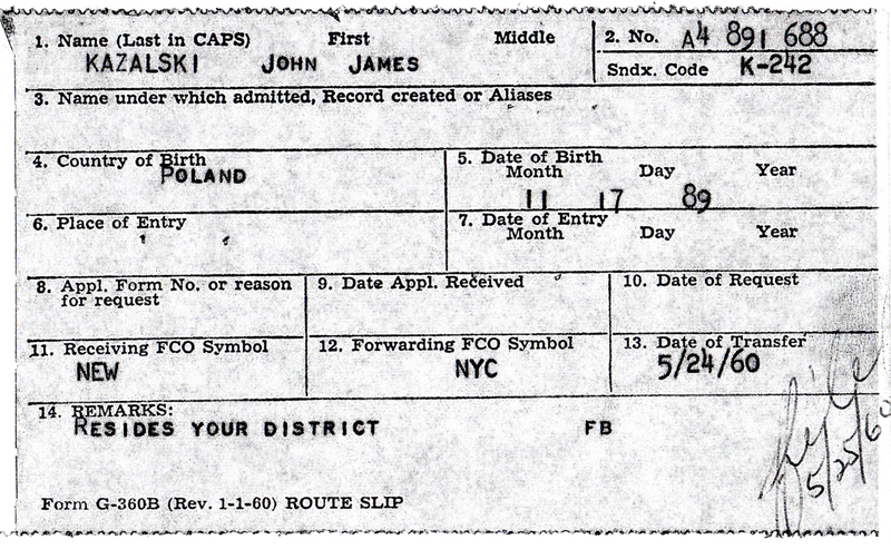 John Kazalski's Address Report Card