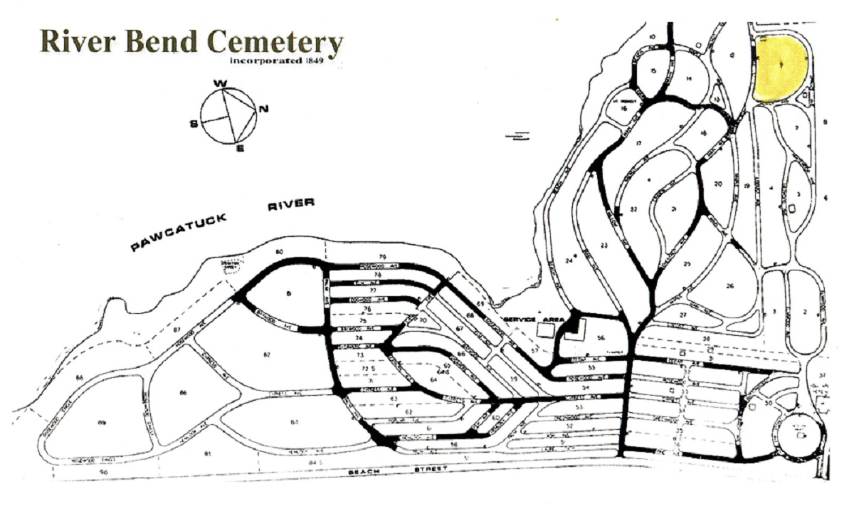Map of River Bend Cemetery