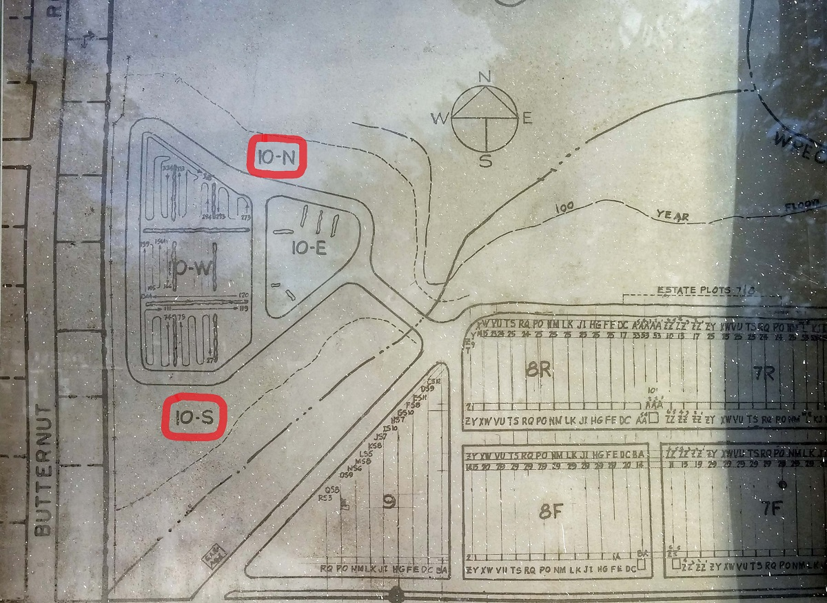 Map of St Catherine Cemetery